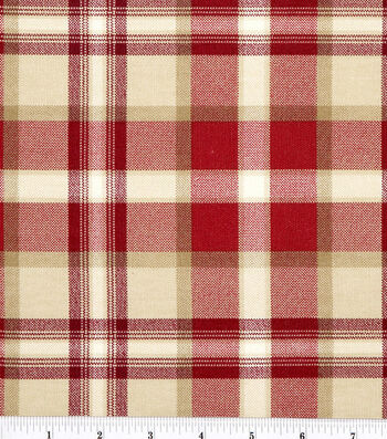 "Home Essentials Lightweight Decor Fabric 45""-Ethan/Red"