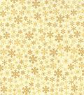Keepsake Calico Holiday Cotton Fabric 43\u0022-Metallic Flakes