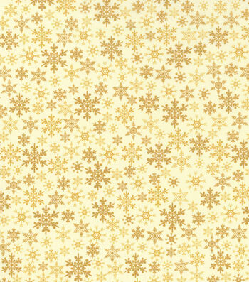 "Keepsake Calico™ Holiday Cotton Fabric 43""-Metallic Flakes"