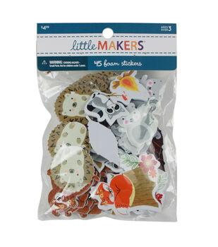 Little Makers Thanksgiving 45 pk Foam Stickers-Woodland