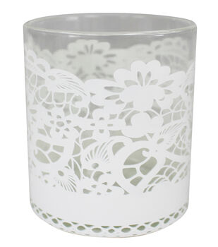 Save the Date 2.8''x3.13'' Lace Wrapped Votive Holder
