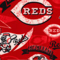 Cincinnati Reds Fleece Fabric-Vintage