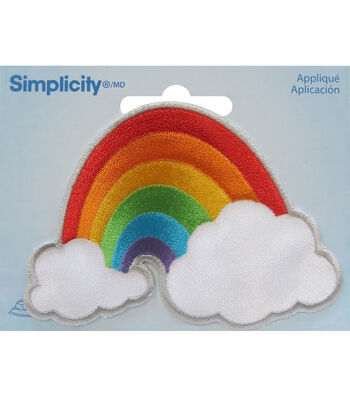 Simplicity Embroidered Iron-On Applique-Rainbow