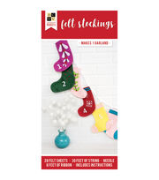 Die Cuts with a View Christmas Paper Projects-Felt Stocking Garland, , hi-res