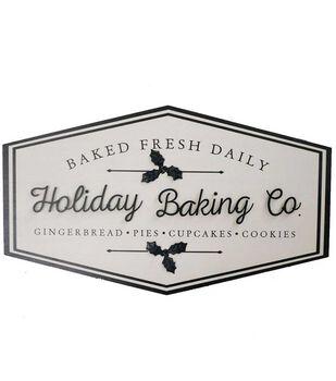 Handmade Holiday Christmas Wall Decor-Holiday Baking Co.
