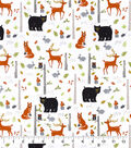 Snuggle Flannel Fabric-Birch Trees & Wilderness