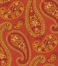 Waverly Upholstery Fabric 54\u0022-Caftan Paisley Cardamom