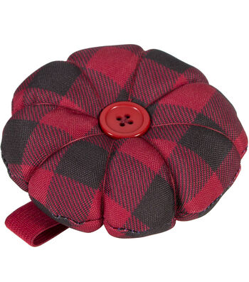 Everything Mary Wristlet Pin Cushion-Red Black Checker