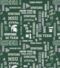 Michigan State University Spartans Cotton Fabric 44\u0022-Glitter