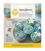 Wilton Stars Sugar Sheets Edible Paper Decorations-Silver & White, , hi-res