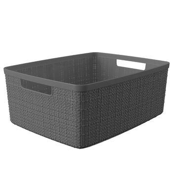 Jute Medium Basket-Slate Grey
