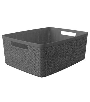 Medium Jute Basket-Slate Gray