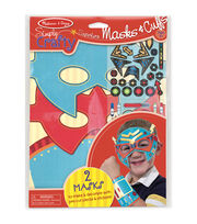Melissa & Doug Simply Crafty Superhero Masks & Cuffs Kit, , hi-res