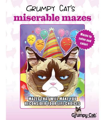 Grumpy Cat's Miserable Mazes Book