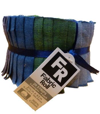 "Quilt Fabric Roll 2.5""-Luminary Dark Solids"