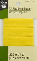 Dritz 5/8\u0022  Foldover Elastic Neon Yellow 1Yd