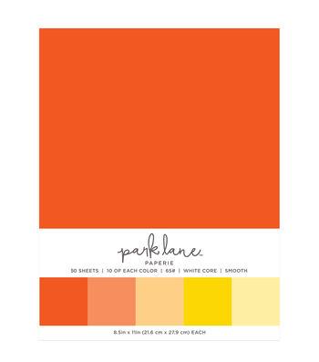 Park Lane 50 pk 8.5''x11'' Value Papers-Orange & Yellow