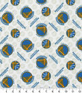 Golden State Warriors Cotton Fabric 44\u0027\u0027-Tossed Logo