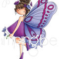 Stamping Bella 2 pk Cling Stamps-Tiny Townie Brianna the Butterfly