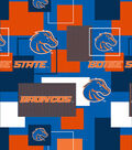 Boise State University Broncos Cotton Fabric 43\u0027\u0027-Modern Block