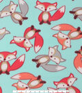 Blizzard Fleece Fabric -Tossed Sweet Fox