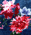 Luxe Flannel Fabric-Floral on Denim