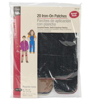 Dritz Iron-On Patch Assortment 20pcs