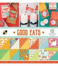 DCWV 36 Pack 12\u0022x12\u0022 Premium Printed Cardstock Stack-Good Eats