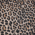 Silky Print Textured Fabric-Dark Brown Cheetah