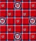 Washington Nationals Flannel Fabric 42\u0022-Plaid