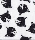 Snuggle Flannel Fabric -Monochrome Cats