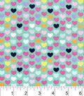 Snuggle Flannel Fabric 42\u0022-Multi Bright Hearts