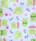 Snuggle Flannel Fabric -Prince & Princess Frogs