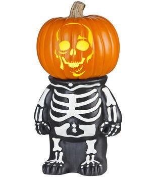Maker's Halloween Plastic Skeleton Pumpkin Holder