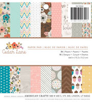 American Crafts 36 Pack 6''x6'' Paper Pad-Cedar Lane, , hi-res