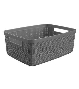 Small Jute Basket-Slate Gray