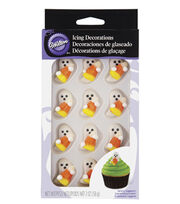 Wilton 12ct Ghost with Candy Corn Icing Decorations, , hi-res