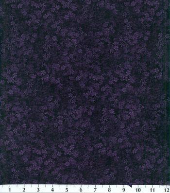 "Legacy Studio Cotton Fabric 44""-Plum Floral"