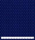 Snuggle Flannel Fabric-Estate Blue Tonal Dot