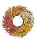 Blooming Autumn 23\u0027\u0027 Heather Wreath-Tri Color