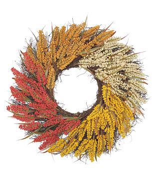 Floral supplies joann blooming autumn 23 heather wreath tri color mightylinksfo