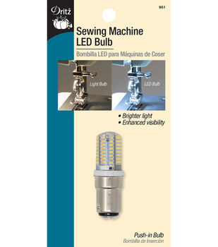 Dritz Sewing Machine LED Bulb with Push-in Base-Clear
