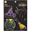 Wilton Maker\u0027s Halloween Shapes Cookie Cutter Set-Cat Caldrin Broom