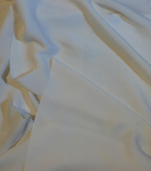 Casa Collection Sanded Satin Fabric -Snow White