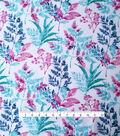Silky Stretch Chiffon Fabric 57\u0022-Pink Cool Stems