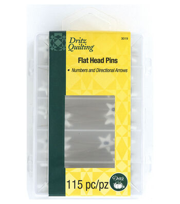 Dritz Quilting 115 pk Flat Head Pins-Numbered, Directional & Blanks