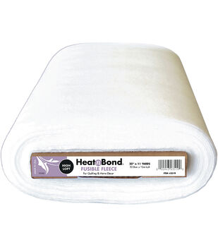 Heatnbond High Loft Fleece Fusible Fleece Interfacing 20''x11 yds-White