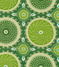 Waverly Print Fabric 54\u0022-Bohemian Swirl/Jade