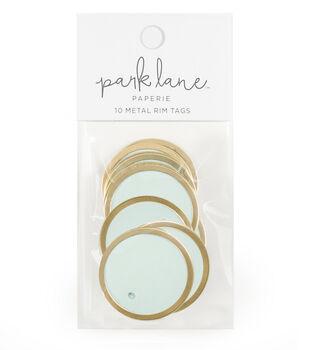 Park Lane Paperie 10 pk Metal Rim Tags-Gold & Mint