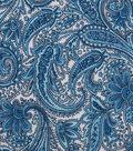 Keepsake Calico Cotton Fabric 43\u0022-Small Multi Blue Paisley